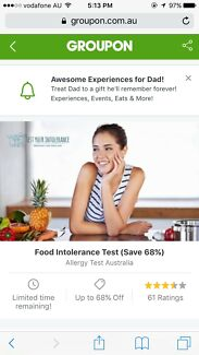 Advance Food Intolerance Test for One person ($39)