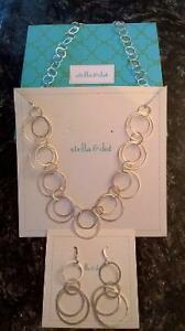 stella & dot Gilda Links necklace & earrings