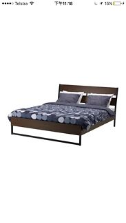 Ikea queen size bed frame with bedstand
