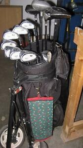 Golf Clubs complete with bag and cart