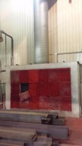 Systéme complet de mur s'aspiration pour peinture et système d'éclairage explosion Proff