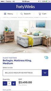 Bellagio mattress medium king Craigmore Playford Area Preview