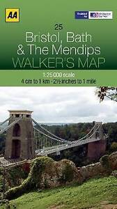 Bristol, Bath and the Mendips by AA Publishing (Sheet map, folded, 2012)
