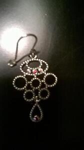 Pandora Chandelier Earring w/ Pink Rhodolite