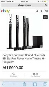 Sony Surround Sound - Bluetooth, Blu-Ray DVD Player, USB Portal New Farm Brisbane North East Preview