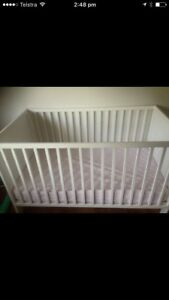 White cot with mattress - EUC Bayview Darwin City Preview