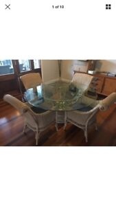 Glass top table & 4 chairs Clagiraba Gold Coast West Preview