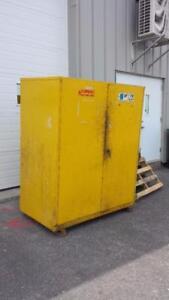 Armoire de produits dangereux 2 barils de 55 gallons avec système de mise a la terre