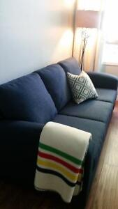 Stylish, blue couch - like new!