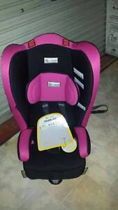 Booster Seat - Racing Kid Pink Swirl - Used in total for 1 hour. Bracken Ridge Brisbane North East Preview
