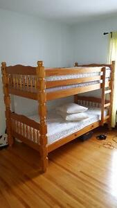 Solid pine bunk bed Kingston Kingston Area image 1