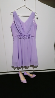 Lavender dress and matching shoes