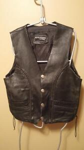 MENS CRUISER MOTORCYCLE LEATHER VEST