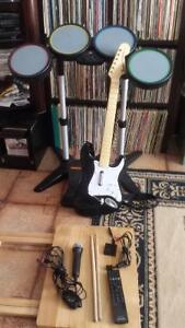 PS3 drum and guitar