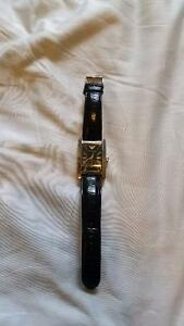 Emporio Armani Men's Black Leather Watch