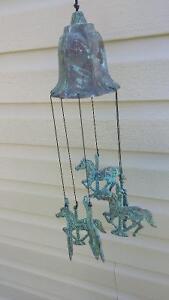 Vintage rustic horse  wind chime