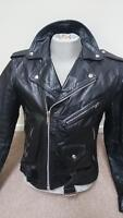 Retro Police Leather Motorcycle Pants/Jacket.