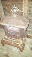Antique perfect clarion parlor wood stove