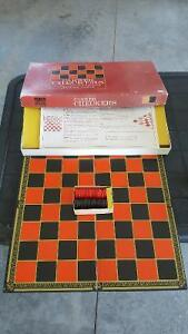 Vintage Checkers Board and Wooden Pieces!