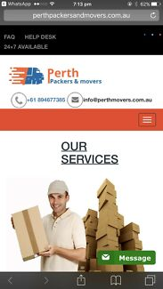 MOVERS  REMOVALS $60 PER HOUR 2MEN & TRUCK MOVERS  REMOVALIST IN PERTH