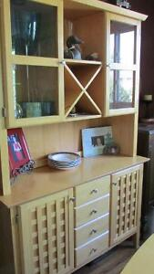 BIRCH DINING TABLE AND HUTCH Peterborough Peterborough Area image 1