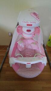 Fisher Price Butterfly Cradle Swing with canopy