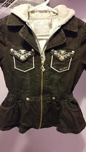 Baby phat black jean jacket size small