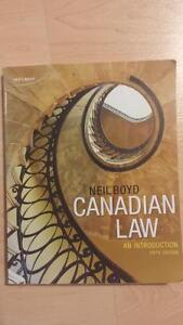 Canadian Law An Introduction 5th Edition Kitchener / Waterloo Kitchener Area image 1