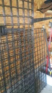 Wall grates with many, many hanger hooks/bars