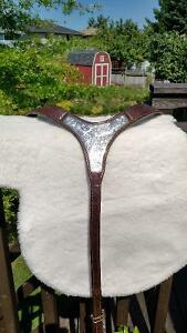 Combo Leather Breast Collar with Bridle w/silver Kitchener / Waterloo Kitchener Area image 7