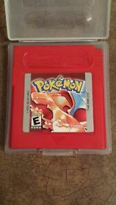 Pokemon red gameboy with case