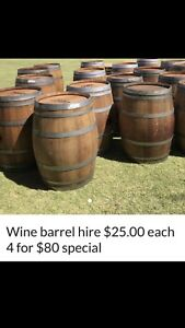 Wine barrel hire $25.00 each 4 for $80 special Upper Swan Swan Area Preview