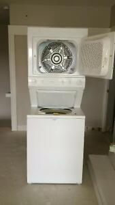 stackable GE washer dryer.