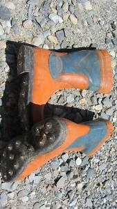 Stihl Brand Spiked Steel Toe Boots