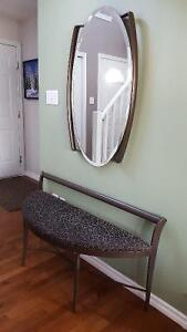 High End Bench and Matching Mirror