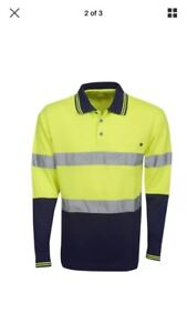 Hi Vis Cooldry Reflective Safety Polo Long Sleeve XS Springvale South Greater Dandenong Preview