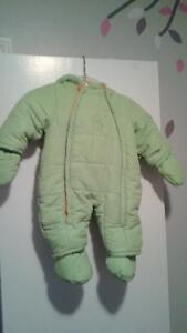 Warm 9 month snow suit