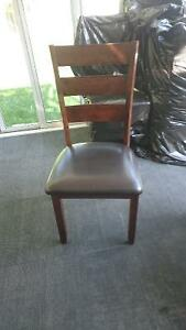4 Brand new dinning table chair - leather and wood