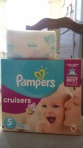 Pampers Wipes and Pampers Cruisers size5 ::: Asking$22 thanks