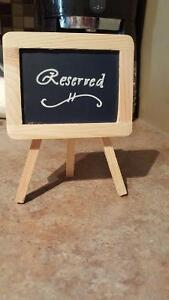 4 Wedding Reserved Signs on Easels