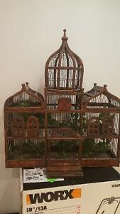 Antique Victorian TAJ MAHAL Style Wood & Wire Bird Cage House