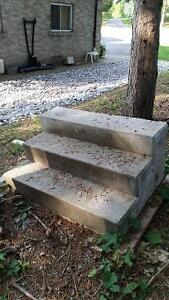 set of cement steps