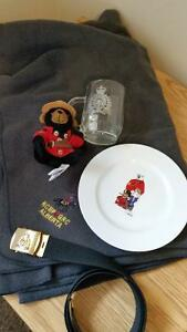 RCMP COLLECTIBLES BELT MUG BEAR PLATE BLANKET
