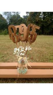 Wooden Table Numbers - wedding, rustic, centrepieces, decore
