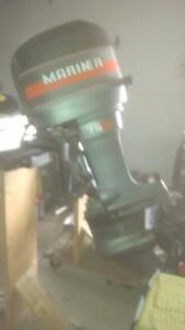 75 Hp Mariner Outboard with Quick Silver controls, key & cables Kingston Kingston Area image 3