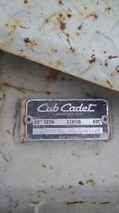 "Cub Cadet 60"" haban deck,all bearings and seals and blades good London Ontario image 2"