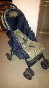 graco blue and green stroller