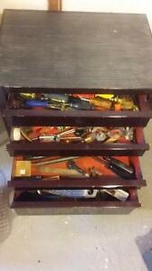 4 Drawer Tool Chest and Various Tools (reduced price) PLEASE CAL