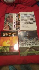 Accounting,  Statistics and Political Science books for sale