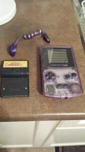 Gameboy color atomic purple console with extras